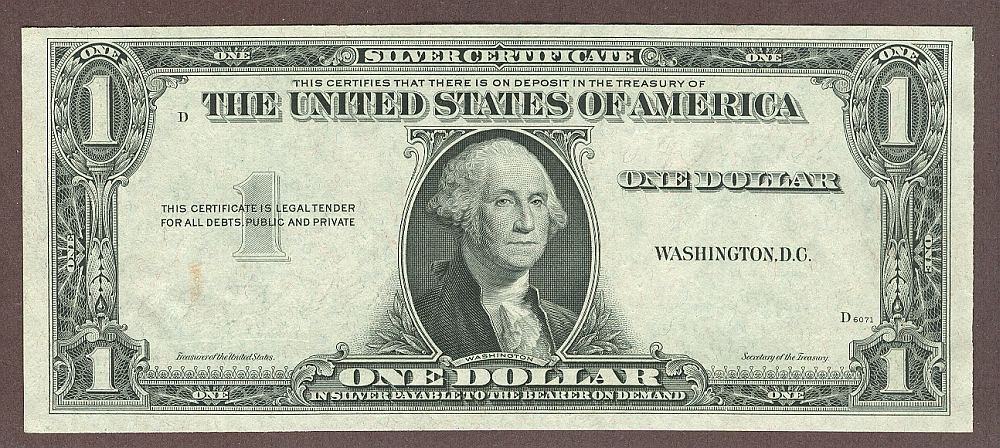 Missing 3rd Printing Silver Certificate Error
