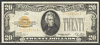 Fr.2402, 1928 $20 Gold Certificate, Very Fine