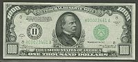 Fr.2212-H, 1934A $1000 St. Louis Federal Reserve Note. LGS, H00023461A
