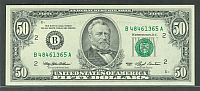Fr.2125-B, 1993 $50 New York FRN, B48461365A, GemCU