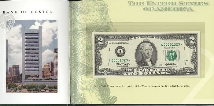 2003 $2 Star Note Premium 12-District Federal Reserve Note Set