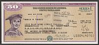 United States Savings Bond, Series I, 01/2009 $50 Helen Keller