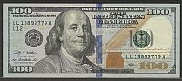 """Birthday Note"" 2009A $100 San Francisco FRN, LL1989 9779A, AU"