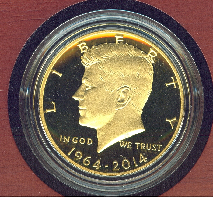 2014-W Kennedy Half Dollar Gold Commemorative, Gem Cameo Proof in OMP