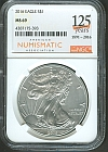 2016 Silver Eagle, Gem BU, NGC-MS69, ANA Anniversary Label