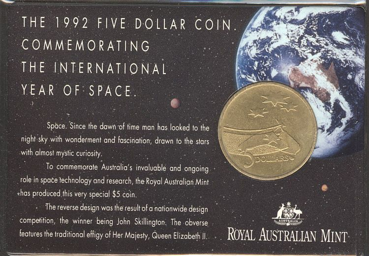 Australia, 1992 $5 Space Commemorative