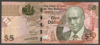 Bahamas, P-72, The Central Bank 2007 $5, GemCU