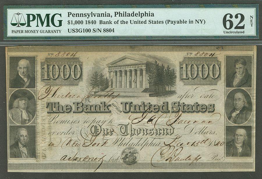 United States 1000 Dec 15 1840