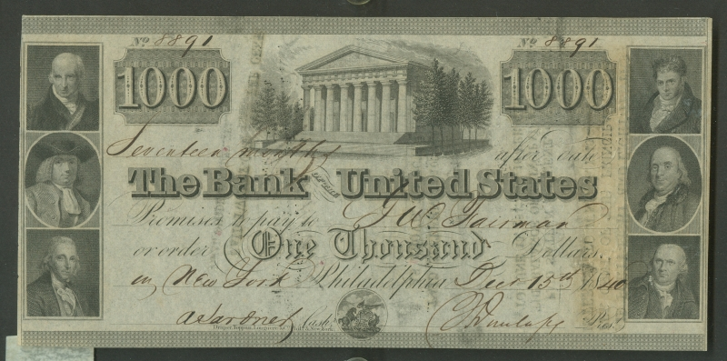 Bank of the United States $1000