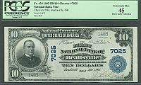 Beallsville, OH, Ch.#7025, 1st NB of Beallsville, OH, 1902PB, Ch.XF, 1483