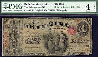 Bellefontaine, Ohio National Bank, Charter#1784, $1 Original, 2090, PMG-4n