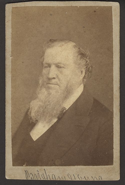 Brigham Young Photograph, by C.R. Savage