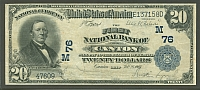 Canton, OH, Ch.#76, 1902PB $20, The First National Bank, VF, 47609