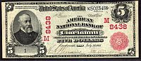 Cincinnati, OH Ch. #48438, 1902RS $5 Serial Number One, VF