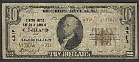 Cleveland, OH, Central United National Bank, Ch.#4318, 1929T2 $10 Fine, A033644