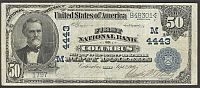 Columbus, Ohio, 1902PB $50, Charter #4443, The First National Bank, VF, 1797