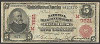 Columbus, Ohio, 1902RS $5, Charter #7621, The National Bank of Commerce