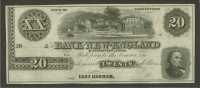 East Haddam, Connecticut, $20 Bank of New England, GEM