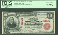 Coshocton, OH, Charter #6892, 1902 Red Seal $10. Serial Number 1, Ch.XF-PQ