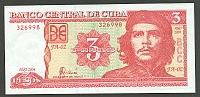 Cuba, P-123, 2004 3 Pesos, Commemorative Issue - Che Guevara, Gem CU