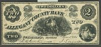 Cumberland, MD, Allegany County Bank, 1861 $2, 2241, Ch.VF