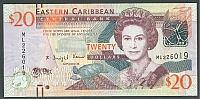 Eastern Caribbean, Central Bank, [2012] $20, GemCU