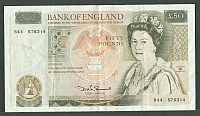 England, P-381a, ND (1981-93) 50 Pound Note