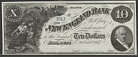 Fairmount, ME, The New England Bank, 1857 $10 (Spurious Note) Remainder, vChAU, CC
