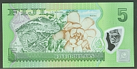 Fiji, New 2013 $5 Polymer Note Flora and Fauna Series(b)(200).jpg
