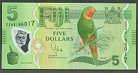 Fiji, 2013 $5, Replacement Note ZZ, GemCU