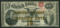 Fr.0190b 1864 $10 Compound Interest Treasury Note  (Sold)
