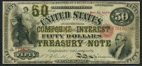 Fr.0192b 1864 $50 Compound Interest Treasury Note   (Sold)