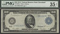 Fr.1039a, 1914 $50 Cleveland Federal Reserve Note, Choice Very Fine, PMG-35n