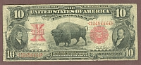 "Fr.114, 1901 $10 Legal Tender ""Bison"" Note"