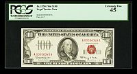 Fr.1550, 1966 $100 Legal Tender Note, Low Number A00006345A, ChXF, PCGS-45