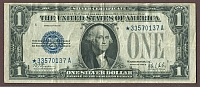 Fr.1602*, 1928B $1 Silver Certificate Star Note, VF