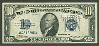 Fr.1701, 1934 $10 Silver Certificate, A63812205A, XF