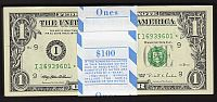 Fr.1922-I*, 1995 $1 Minneapolis Star FRN, Pack of 100, GEM