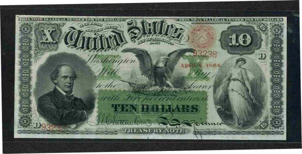 Fr.0196a 1863 $10 Interest Bearing Note 93238