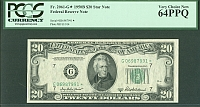 Fr.2061-G*, 1950B $20 Chicago Star Note, Very Choice CU, PCGS64-PPQ