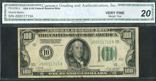 Fr.2150-J, 1928 $100 FRN, Kansas City