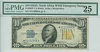 Fr.2309*, 1934A $1 North Africa Silver Certificate Star Note, Very Fine+, PMG-25