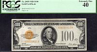Fr.2405, 1928 $100 Gold Certificate, PCGS-40