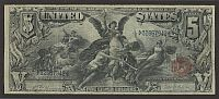 "Fr.270, 1896 $5 ""Educational"" Silver Certificate, Lyons-Roberts, F, 32667942"