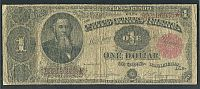 Fr.351, 1891 $1 Treasury Note, Very Good, B22186935