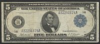 Fr.846, 1914 $5 Boston FRN, VF [25], A32291674A