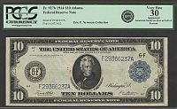 Fr.927b, 1914 $10 Atlanta Federal Reserve Note, Very Fine, PCGS-30a