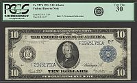 Fr.927b, 1914 $10 Atlanta Federal Reserve Note, Very Fine, PCGS-30