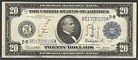 Fr.971a, 1914 $20 New York FRN, B51728109A, VF