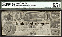 Franklin, Ohio The Franklin Silk Company, $1 Remainder, GemCU, PMG65-EPQ
